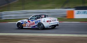 Mazda MX5 racing at Brands Hatch