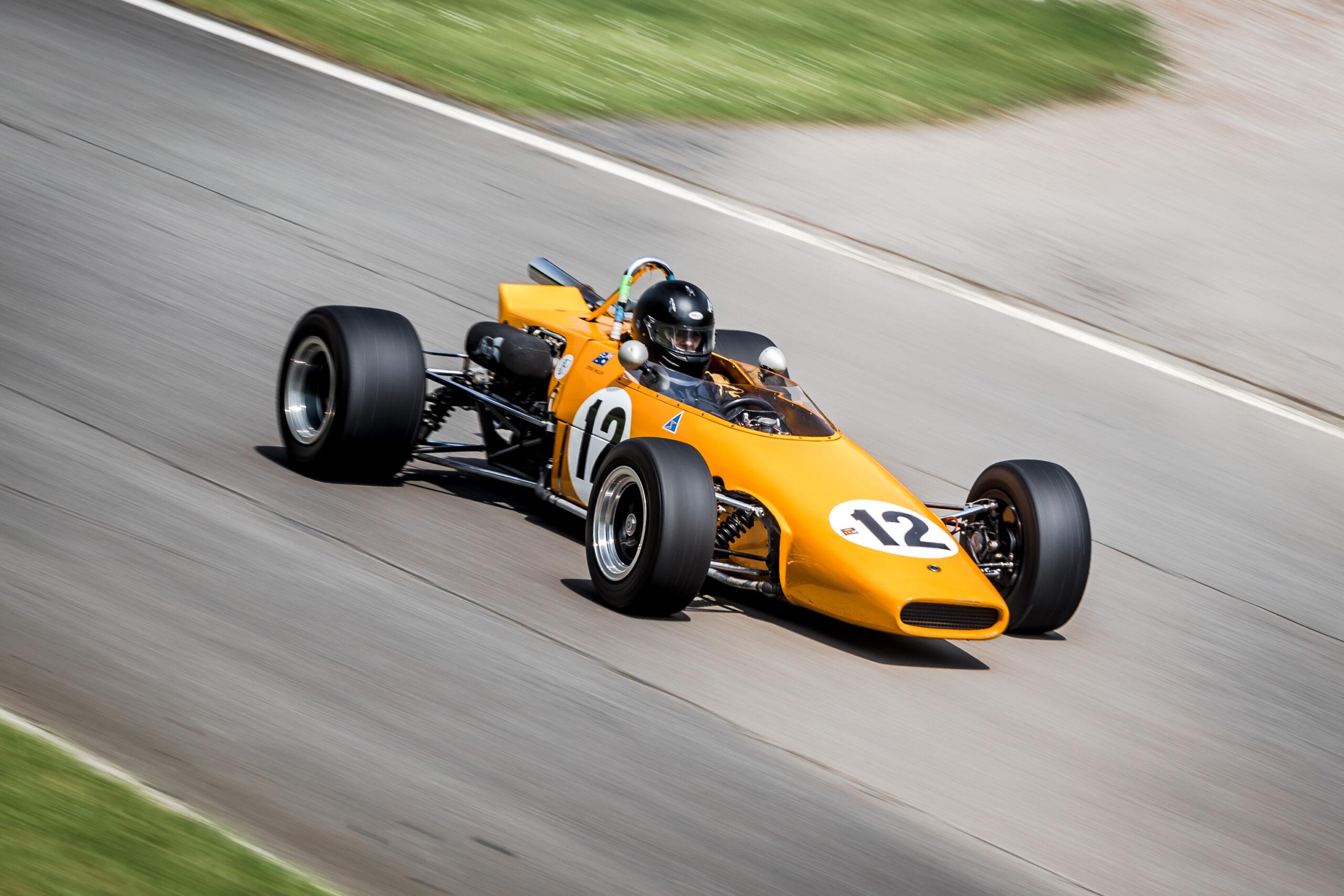 Single seat historic race car