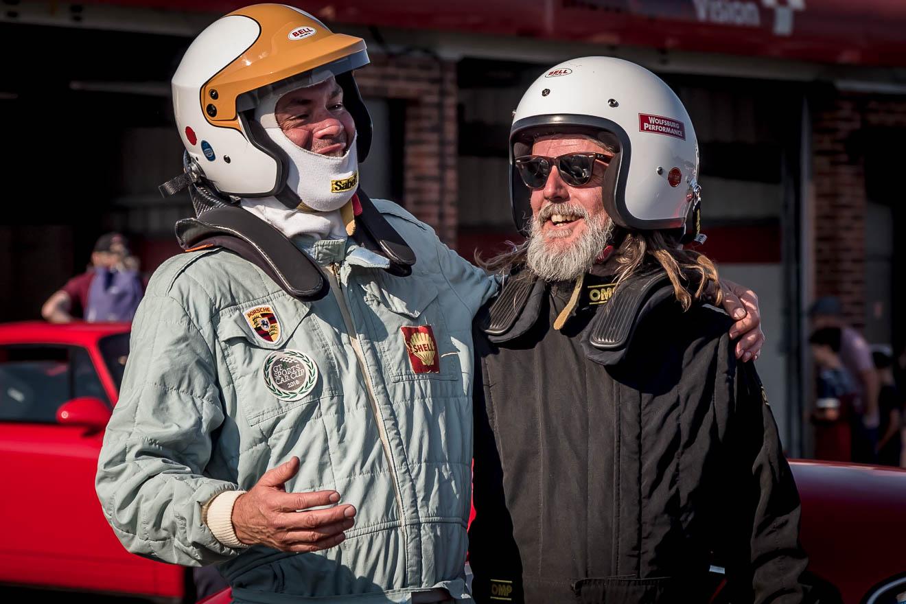 Drivers sharing racing stories