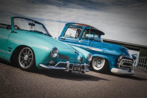 Grill-n-Chill Karmann Ghia and Chevy Apache
