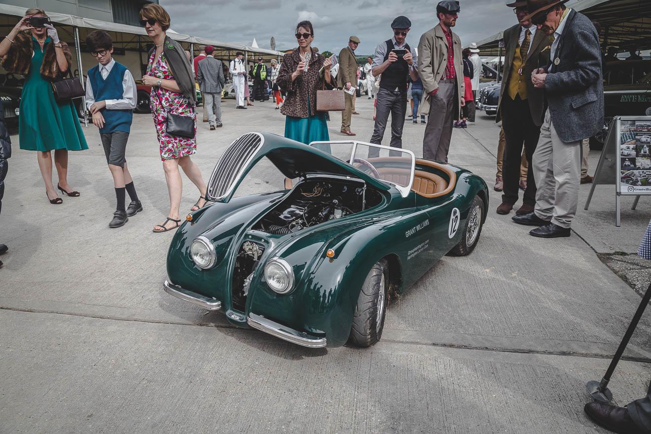 Green mini Jaguar