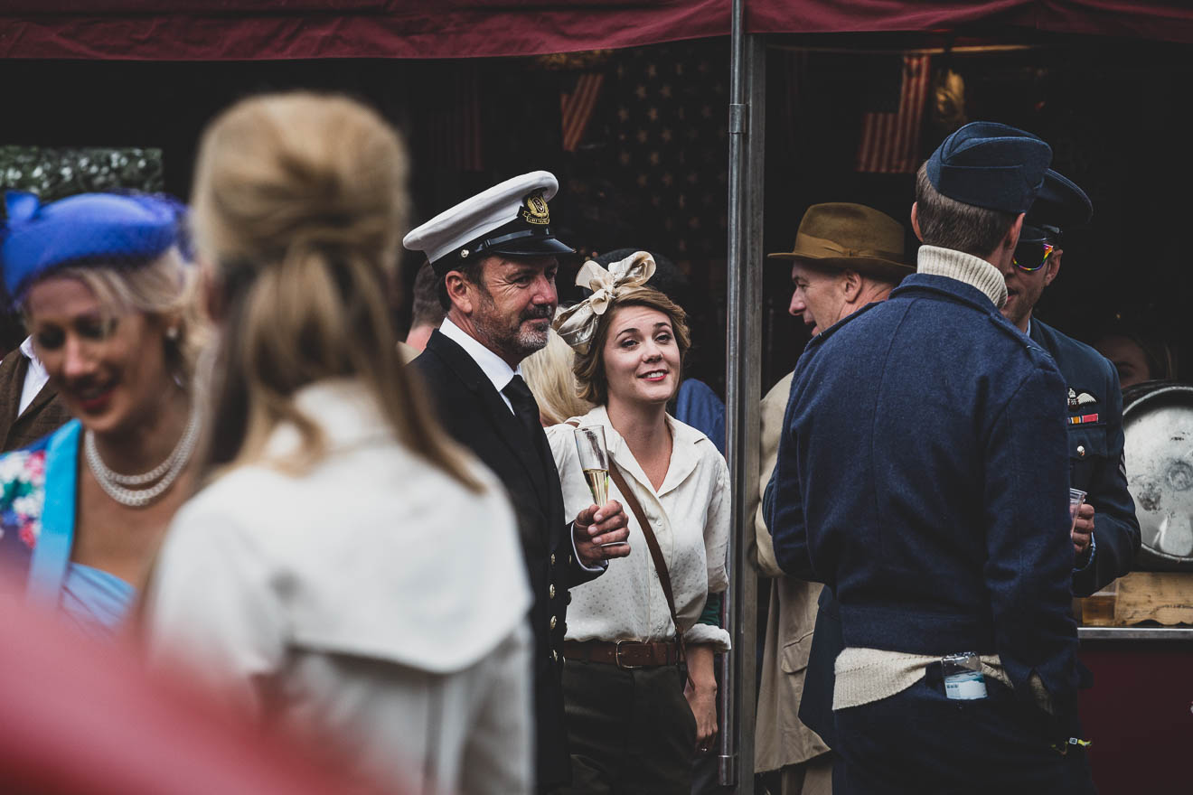 Stylish people at Goodwood Revival