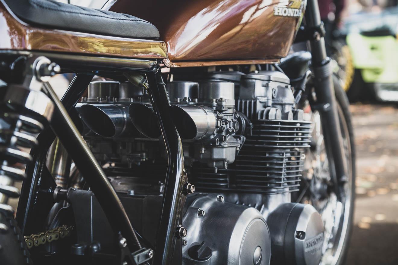 Honda CB500 close up
