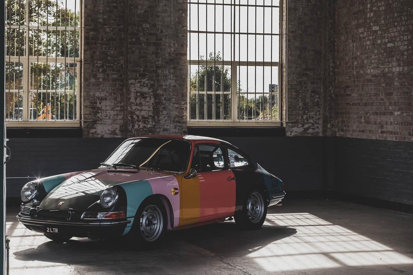 Multi-coloured Porsche 911