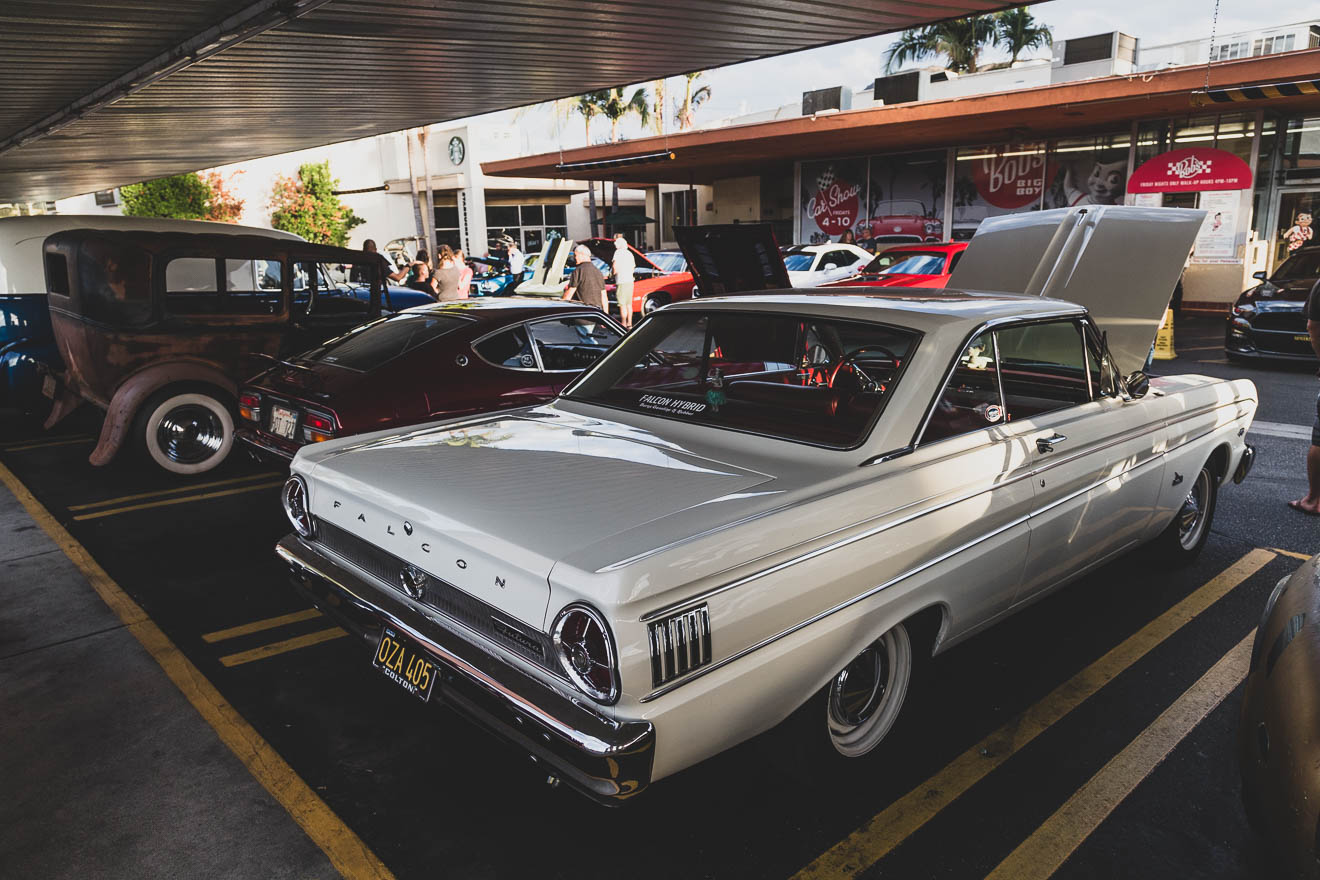 White Ford Falcon