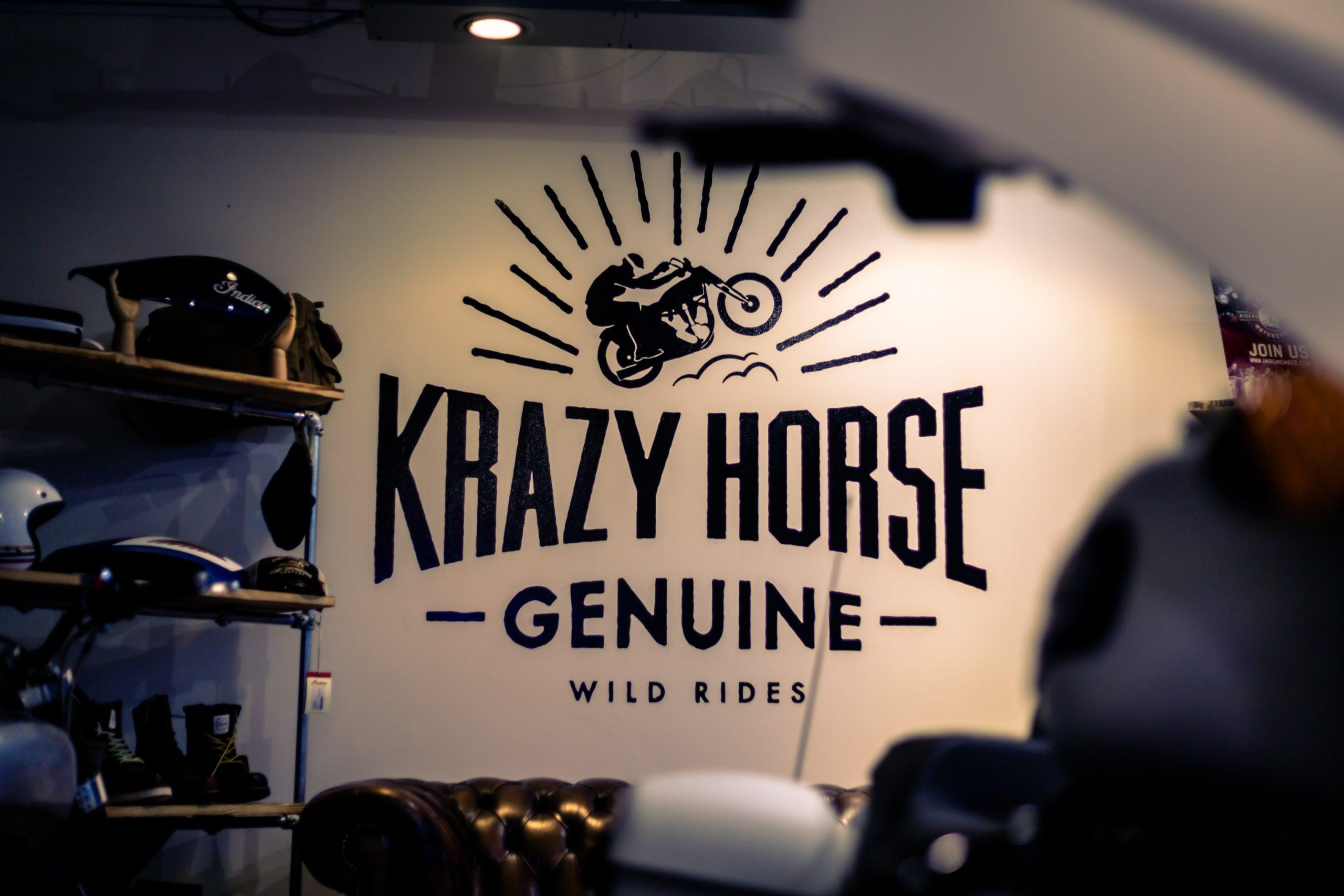 Krazy Horse logo wall