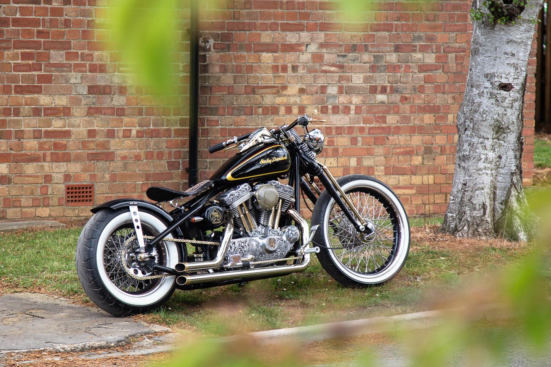 Custom Harley Davidson bobber motorcycle