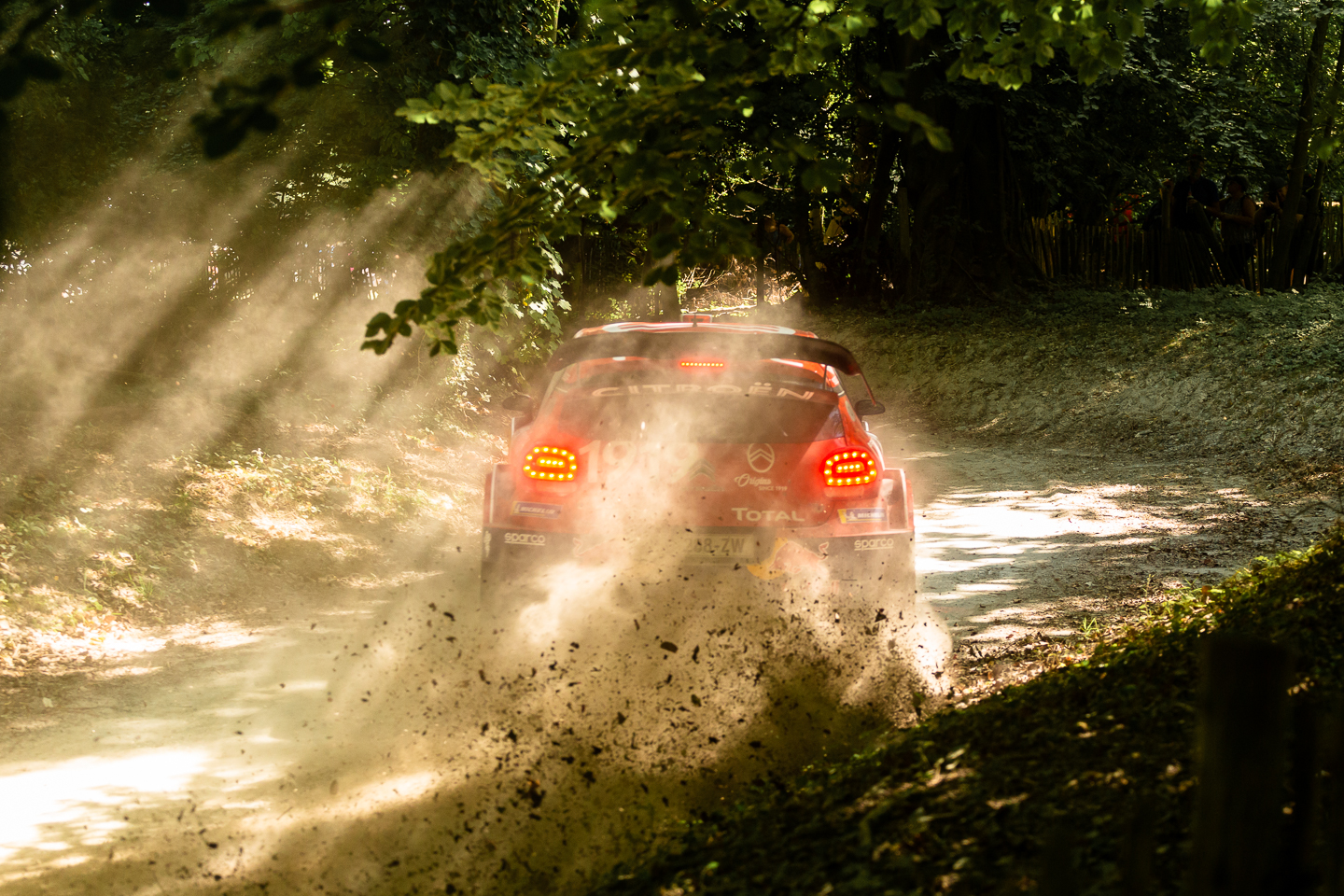 Citroen rally car in the woods