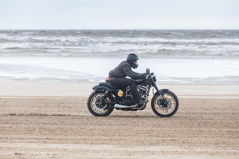 Harley Davidson on Margate beach