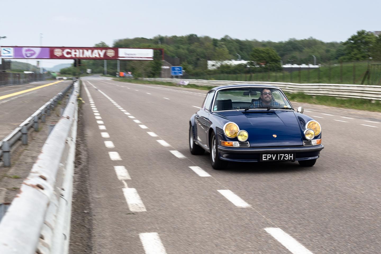 Chimay race circuit in a Porsche 911
