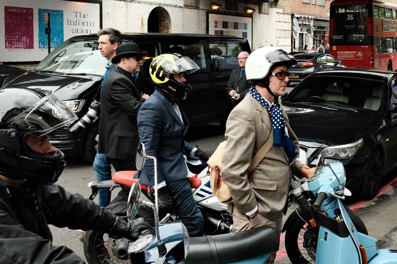 Dapper motorcycle riders