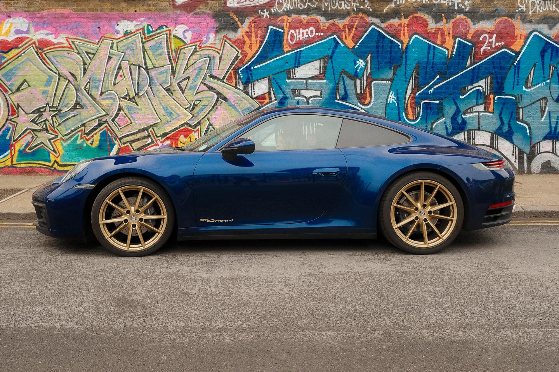 Blue Porsche 992